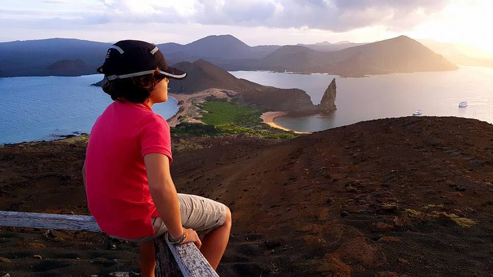 Bartolome Pinnacle rock Galapagos