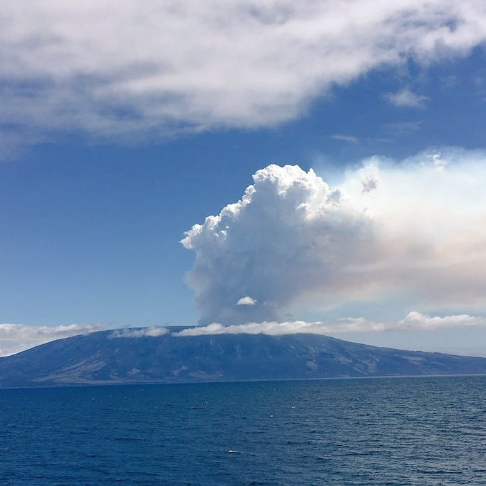 The volcano on the Ferdinanda island of Galapagos ejected ash and gas 4000 meters in the air. via Twitter